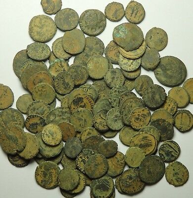 100 Small As Found Low Grade Roman Bronze Coins (846F)