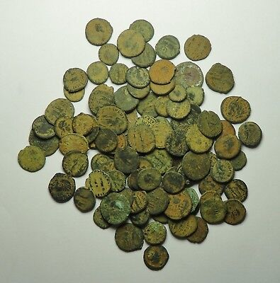 100 Small As Found Low Grade Roman Bronze Coins (848F)