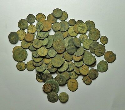 100 Small As Found Low Grade Roman Bronze Coins (852F)