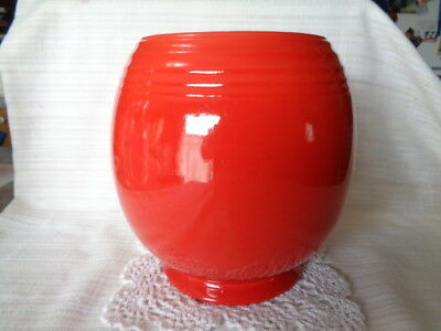 VINTAGE Hall China 5 Band Chinese Red Cookie Jar  - BOTTOM ONLY