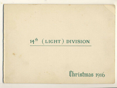 Great War Christmas Card: 14th Light Division, 1916