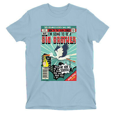 Im going to be a BIG BROTHER BOYS T-Shirt COMIC Kids Baby Pregnancy Announce