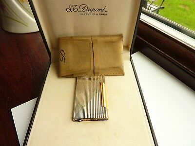 Vintage Dupont Lighter With Box & Pouch ( No Gas Contained)
