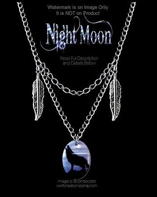 Night Moon Wolf Necklace - Wild Nature Wolves Wildlife Jewelry - Free Ship*