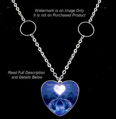 Seasons Of The Moon Dolphin Necklace One Life One Love Heart Jewelry  Free Ship*