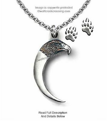 Rugged Eagle Bear Claw Necklace  Male Or Female Pendant Jewelry - Free Ship C24'