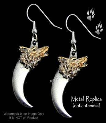 Wolves - Wolf & Bear Claw Earrings - Western Wildlife Jewelry Gift - Free Ship '