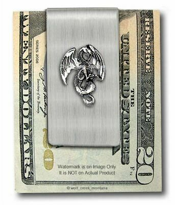 7c6c0860f624 Medieval Legend Winged Dragon Stainless Steel Money Clip Gift Sale - Free  Ship'