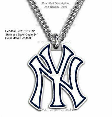 Free Ship - New York Yankees Necklace For Male/ Female - Mlb Baseball Sports Cb'
