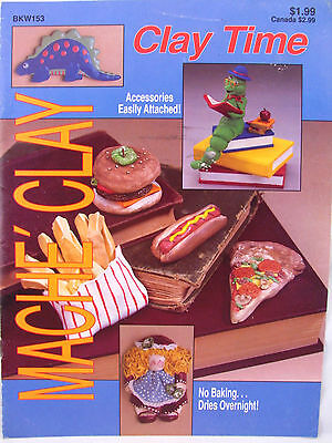 Mache Clay Time Wooden Shapes Enhanced by Clay Booklet Projects Food Dinosaurs