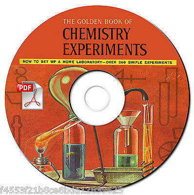 Golden Book Chemistry Experiments-Vintage Manual-Rare-Banned-Science Textbook-CD