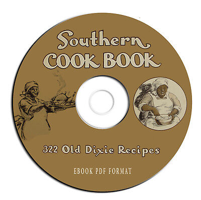 Vintage Southern Cookbook-Best Old Dixie Recipes-Creole-Cajun-Food-CD PDFeBook