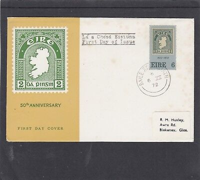 Ireland 1972 1st Stamp stamp on stamp First Day Cover FDC