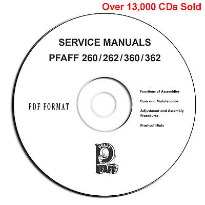 PFAFF 260 360 262 362 Automatic Instructions-Service Parts Manuals-PDF eBook CD*