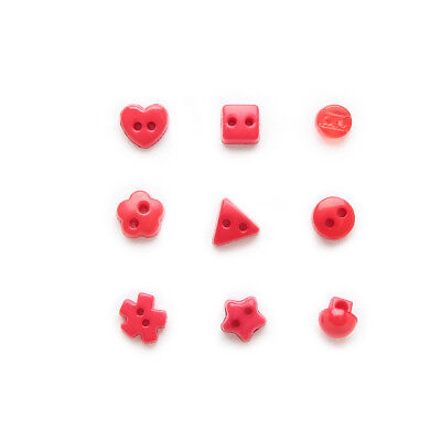 100pcs Red Mixed 2 hole Resin buttons Sewing Scrapbooking Decor 6mm
