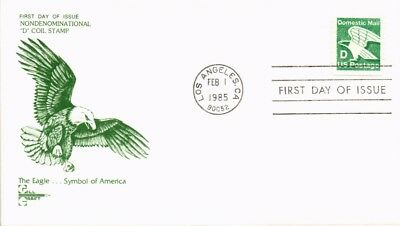 Dr Jim Stamps Us Eagle D Rate Gill Craft First Day Cover 1985 Los Angeles