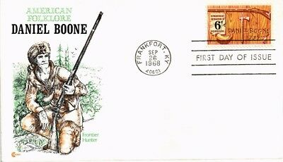 Dr Jim Stamps Us Daniel Boone American Folklore First Day Cover Craft 1968