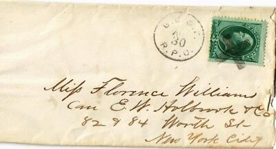 Dr Jim Stamps Us Railway Post Office Ladies Cover Cross Cancel Rpo