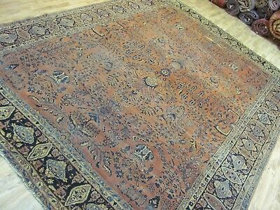 ANTIQUE FASCINATING HANDMADE AMERICAN SAROKH PERSIAN RUG (357 x 250 cm)