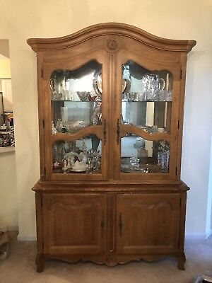 Ethan Allen Country French China Cabinet