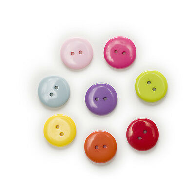 50pcs 2 hole Round Resin Buttons Sewing Scrapbooking Decor Home Clothing 23mm