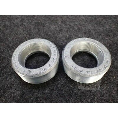 """Box of 2 Eaton RE86 Crouse-Hinds Conduit Hub Reducer, 3""""-2"""", Iron"""