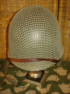 Wwii U.s. M1 Helmet With Liner And M1943 Net