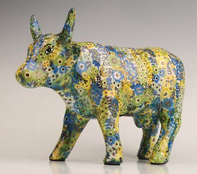 Ceramic Hand Rare Pastoral Large Cattle Animal Statue Money Pot Limited Edition