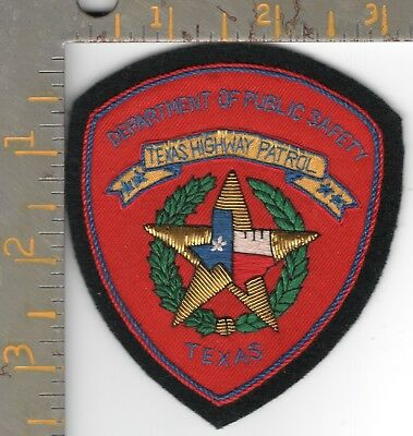 Texas DPS Highway Patrol TX State Police small Bullion Patch Dept Public Safety