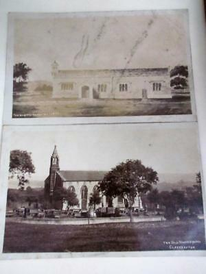 OLD WHITE CHAPEL, CLECKHEATON - TWO VINTAGE RP POSTCARDS c1920's!