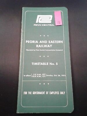 1975 PC Penn Central Transportation Company Railroad Timetable No. 5 (16)