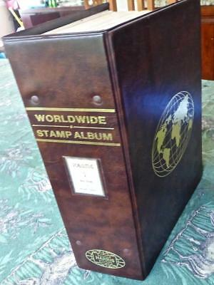 Worldwide Stamp Collection in an Old A-Go Harris Album - 475 Images No Reserve!