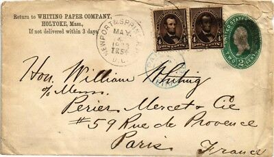 Dr Jim Stamps Us Newport Spring Multi Franked Rpo Cover Whiting Paper 1897