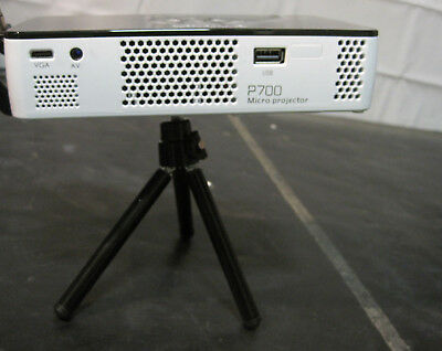 Aaxa P700 LED DLP Micro Projector w/ Attached Mini Tripod FOR PARTS/ REPAIR