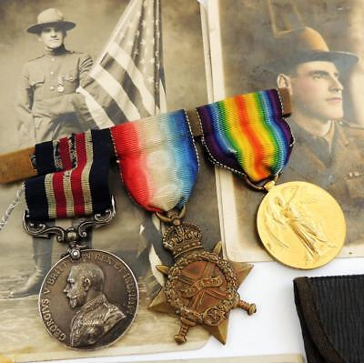 WWI MILITARY MEDAL Group BORDER REGIMENT GALLIPOLI AMPUTEE & USA FORCES