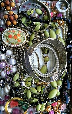 Huge Vintage & Now Jewelry Lot Estate Find Junk Drawer UNSEARCHED UNTESTED#*ivy*