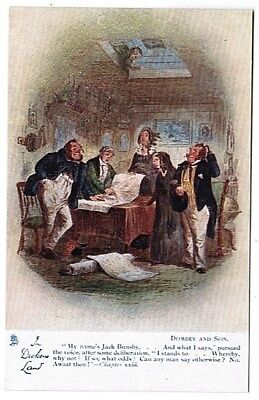 Dickens' Dombey And Sons Chapter Xxiii Unused Tuck Oilette Postcard 6050