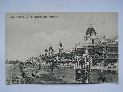 INDIA BOMBAY Cuffe Parade Colaba Reclamation old postcard