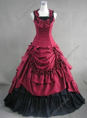 Victorian Southern Belle Westworld Saloon Ball Gown Dress Theater Costume N 081