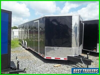 8x28 vision deluxe carhauler enclosed motorcycle trailer torsion axle 8.5 x 24