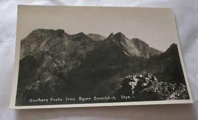 Vintage Southern Peaks From Sgurr Banachdich Skye G.c.taylor Dundee Postcard