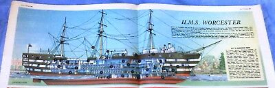 Eagle Comic Centre Page Cutaway – H.M.S. Worcester (8th Oct 1960)