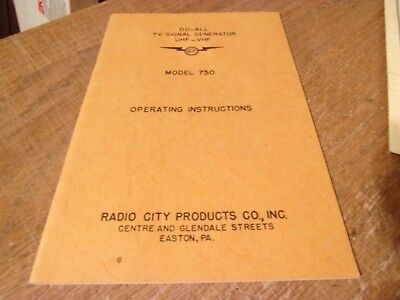 Vintage Electronics RADIO CITY PRODUCTS Do-All Signal Generator Manual 750