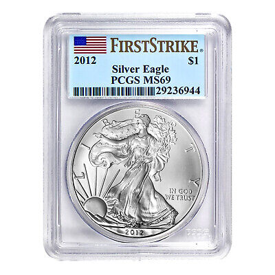 2012 $1 American Silver Eagle MS69 PCGS - First Strike