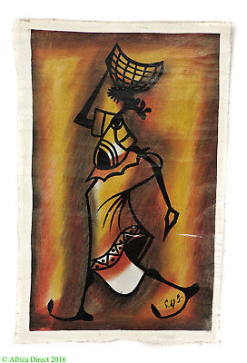 Oil Painting on Canvas VILLAGE WOMAN Zimbabwe Africa SALE WAS $12.00