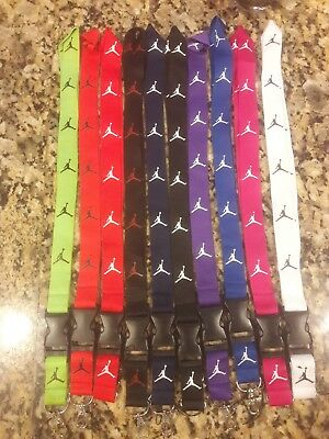 2 JORDAN LANYARDS 10 COLORS TO CHOOSE FROM **key chain/id holder ect.