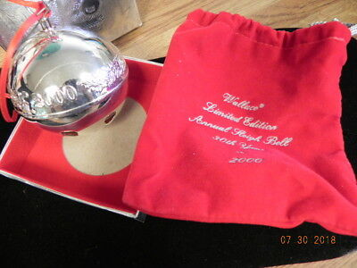 Wallace Silversmiths 2000 Annual Sleigh Bell 30th Anniversary in Box...30TH YEAR