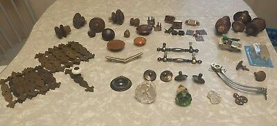 Vintage Antique Drawer Pulls Cabinet Handles Glass Porcelain Wooden Knobs LOT
