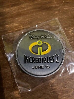 Disney Store Exclusive 2018 Series Incredibles 2 Coin #2!!!
