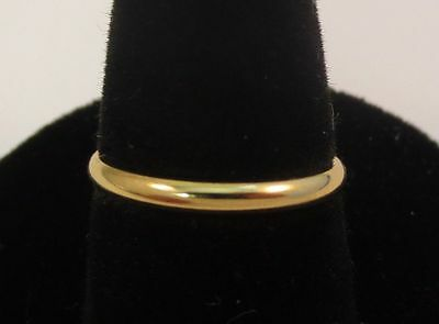 Size 7 Unisex 14Kt Gold Ep  2Mm Smooth Wedding Ring